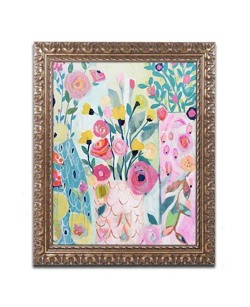 """Trademark Global Carrie Schmitt 'Vase of Flowers' Ornate Framed Art - 16"""" x 20"""""""
