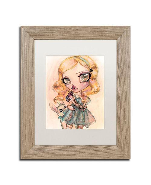 "Trademark Global Natasha Wescoat 'Drink Me' Matted Framed Art - 11"" x 14"""