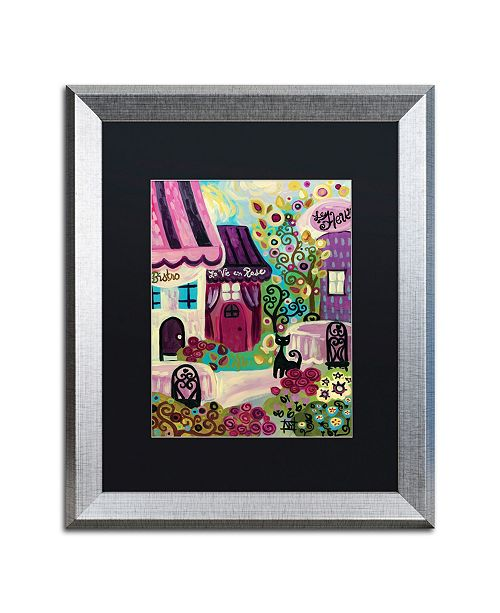 "Trademark Global Natasha Wescoat 'La Vie En Rose' Matted Framed Art - 16"" x 20"""