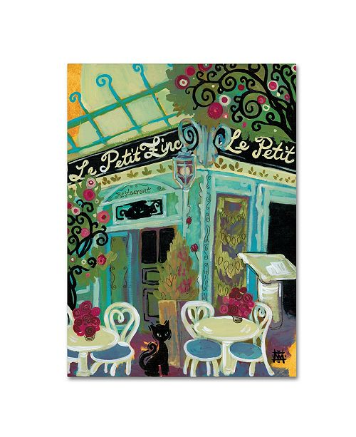 "Trademark Global Natasha Wescoat 'Le Petit Zinc' Canvas Art - 35"" x 47"""