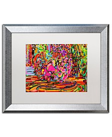 "Josh Byer 'Nude Woman As A Bowl Of Fruit' Matted Framed Art - 16"" x 20"""