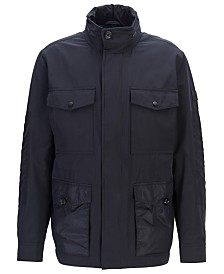 BOSS Men's Carpa Water-Repellent Hooded Field Jacket