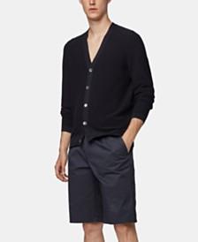 BOSS Men's Javis Italian Cotton V-Neck Cardigan