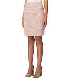 Tahari ASL Tweed A-Line Skirt