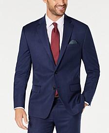 Men's Classic-Fit UltraFlex Stretch Blue Solid Suit Jacket