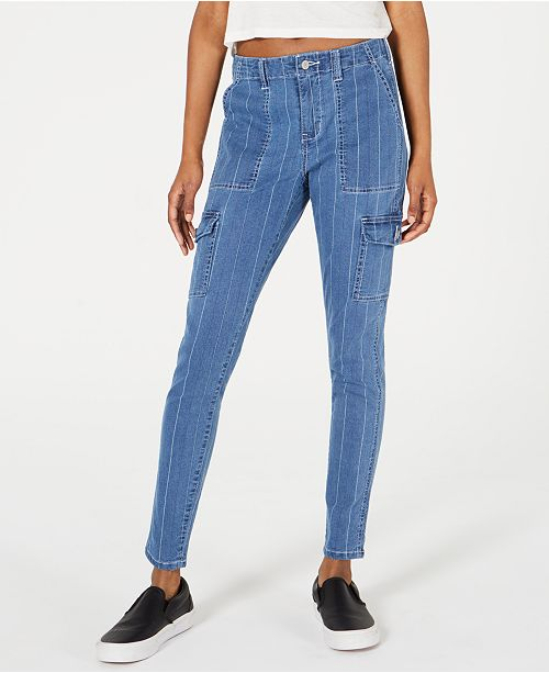 Dickies Pinstripe-Denim Skinny Carpenter Pants