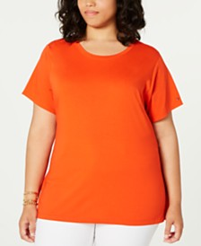 Tommy Hilfiger Plus Size Tie-Waist Top, Created for Macy's