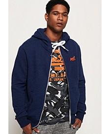 Men's Orange Label Zip-Up Hoodie