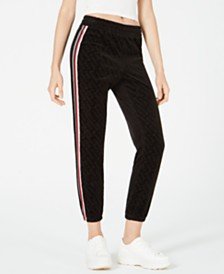 Juicy Couture Embossed Velour Jogger Pants
