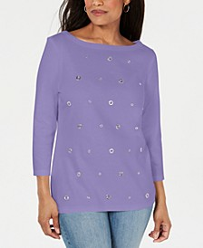 Cotton Grommet Top, Created for Macy's