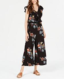 Juniors' Top-Ruffle Jumpsuit, Created for Macy's