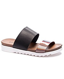 Cant Stop Flat Slide Sandals