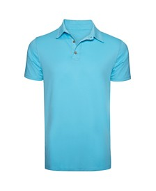 Caribbean Joe Men's  Short Sleeve Easy Care Stretch Golf Polo