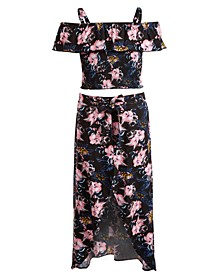 Big Girls 2-Pc. Ruffled Top & Maxi Skirt Set, Created for Macy's