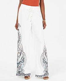 INC Printed Wide-Leg Pants, Created for Macy's