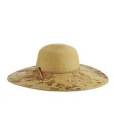 Scala Printed Paper Braid Big Brim Hat
