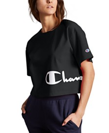Champion Heritage Script-Logo Cropped T-Shirt