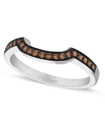 Le Vian Chocolate Diamond Wedding Band 1 5 Ct T W In 14k