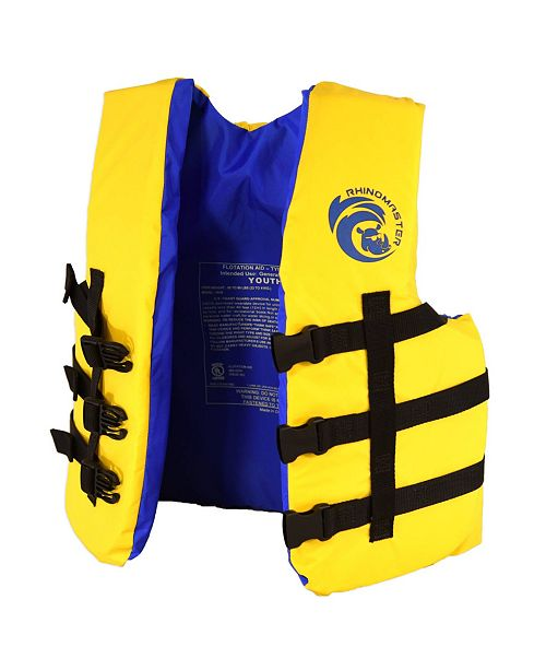 RhinoMaster Youth Life Vest for Watersports - USCG Approved Type III