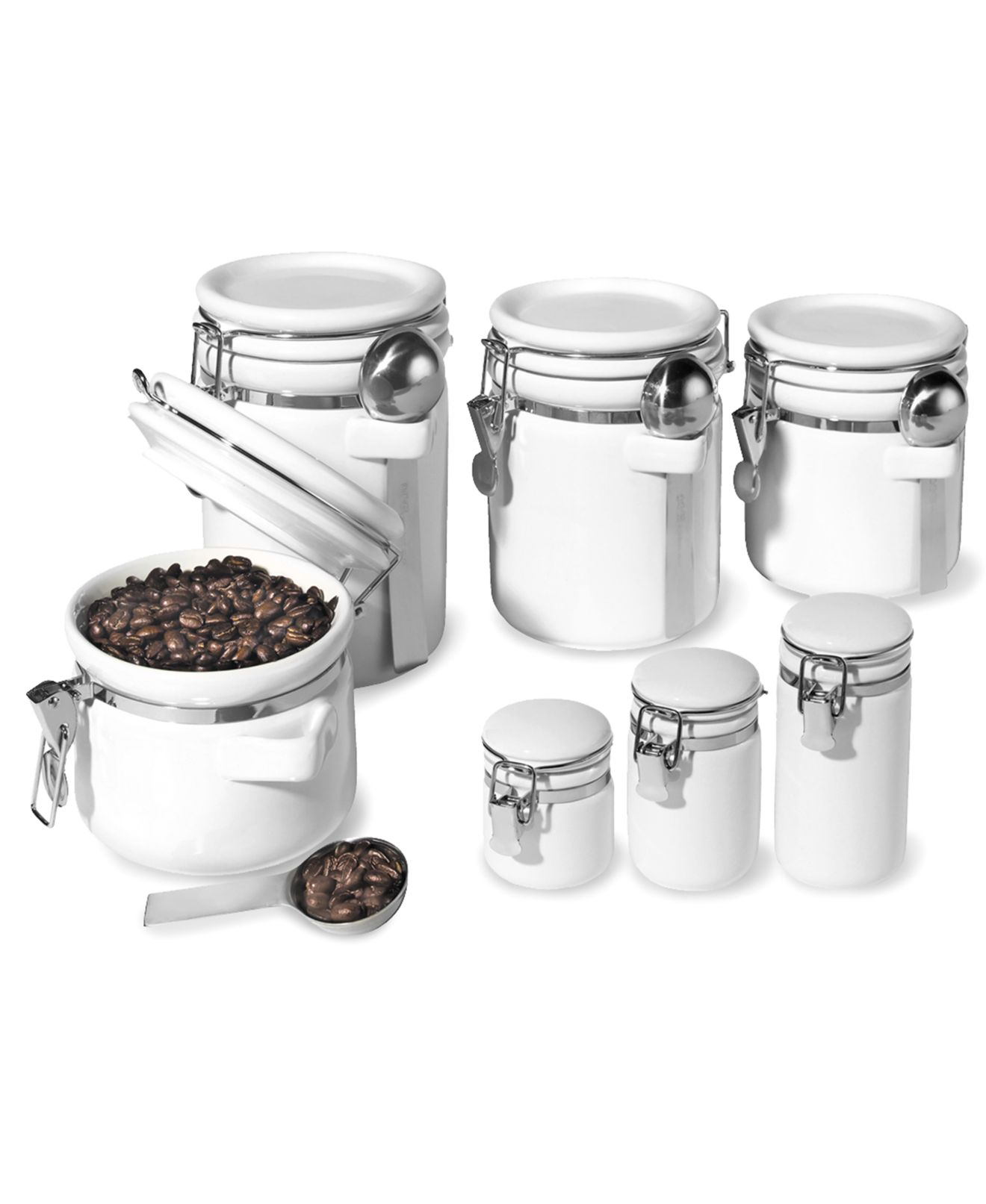 canisters pantry storage gifts oggi food storage containers 7 piece set ceramic canisters