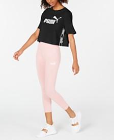 Puma Amplified Cotton Logo Cropped T-Shirt