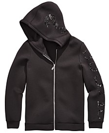 Big Girls Hooded Sequin Jacket