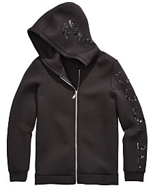 GUESS Big Girls Hooded Sequin Jacket