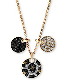 "EFFY® Multi-Color Diamond 18"" Pendant Necklace (5/8 ct. t.w.) in 14k Gold"