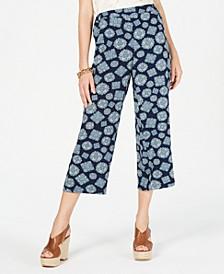 Printed Cropped Pants