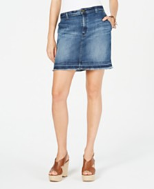 Michael Michael Kors Denim Cargo Skirt