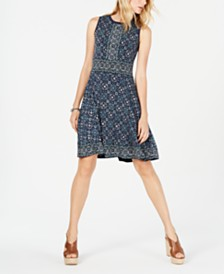MICHAEL Michael Kors Medallion-Print A-Line Dress, Regular & Petite Sizes