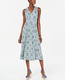Printed Midi Dress, Regular & Petite Sizes