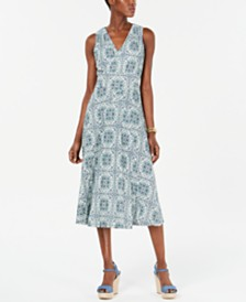 MICHAEL Michael Kors Printed Midi Dress, Regular & Petite Sizes