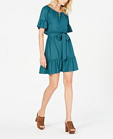 Ruffled Peasant Dress, Regular & Petite Sizes