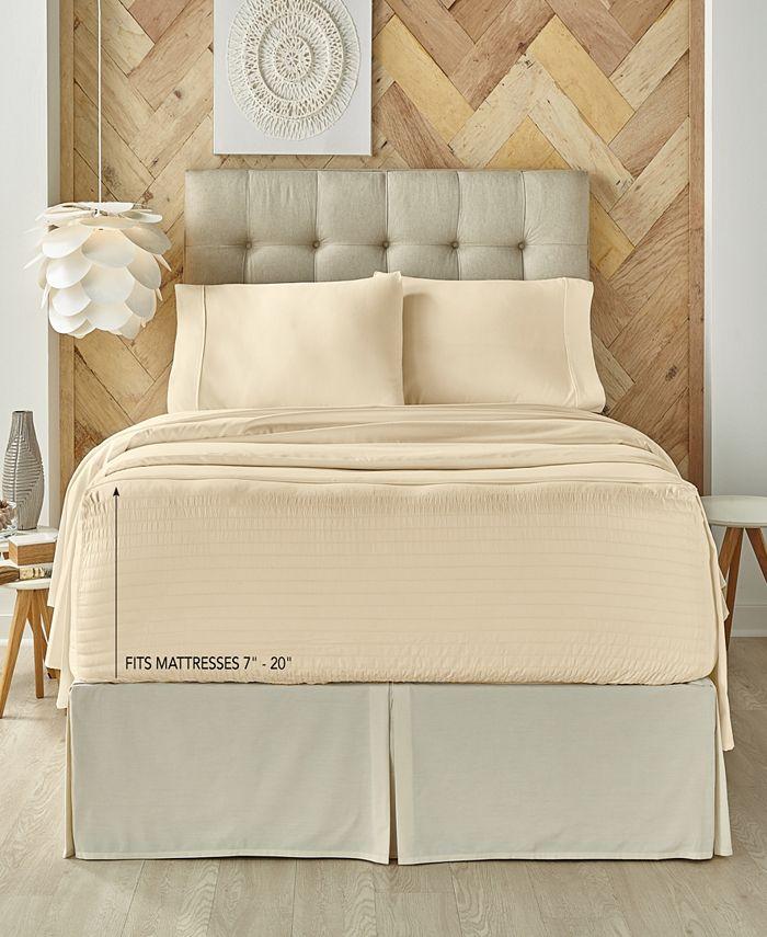 J Queen New York - Royal Fit Ivory 300 TC Cotton-blend Twin Sheet Set