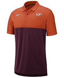Nike Men's Virginia Tech Hokies Dri-Fit Colorblock Breathe Polo