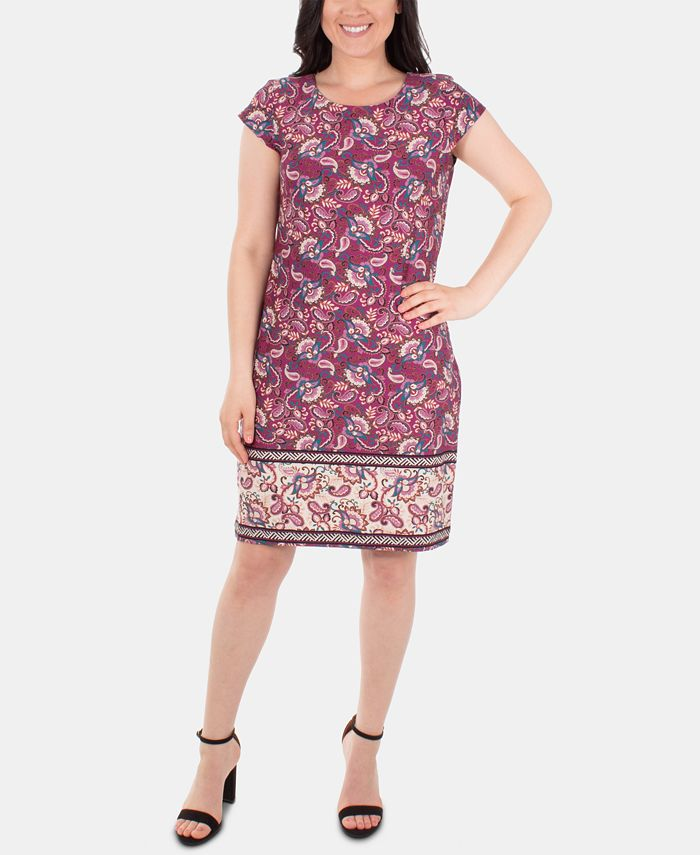 NY Collection - Printed Shift Dress