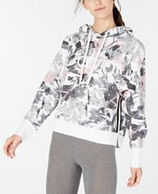 Calvin Klein Performance Printed Varsity-Stripe Hoodie
