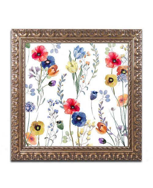 """Trademark Global Color Bakery 'Summer Linen' Ornate Framed Art - 11"""" x 11"""""""