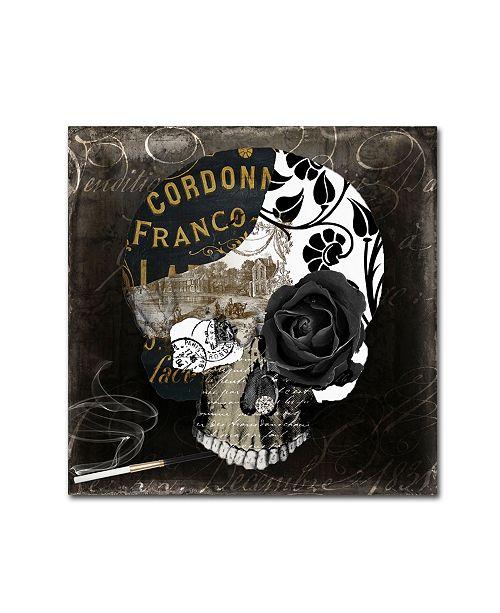"Trademark Global Color Bakery 'Paris Halloween II' Canvas Art - 14"" x 14"""