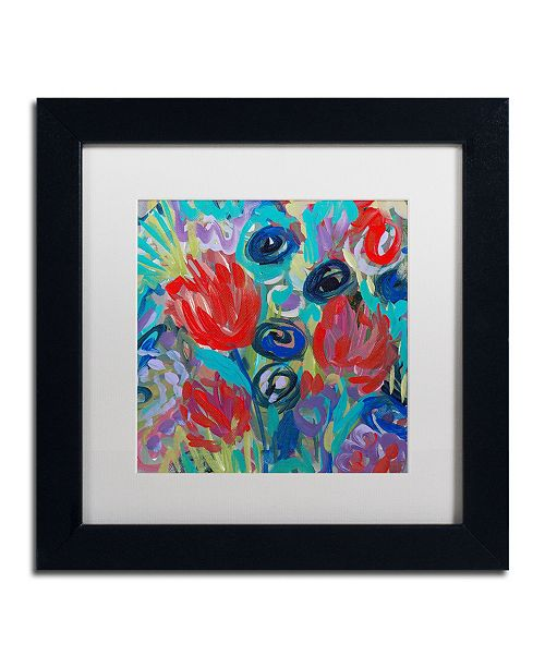 "Trademark Global Carrie Schmitt 'Savasana' Matted Framed Art - 11"" x 11"""