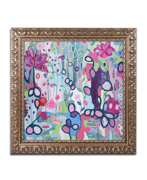"Trademark Global Carrie Schmitt 'In The Flow' Ornate Framed Art - 11"" x 11"""
