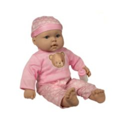 """Grandex 20"""" Soft Lovely Baby Doll Dressed in Pink"""