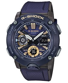 Men's Analog-Digital Navy Blue Resin Strap Watch 48.7mm