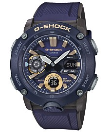 G-Shock Men's Analog-Digital Navy Blue Resin Strap Watch 48.7mm
