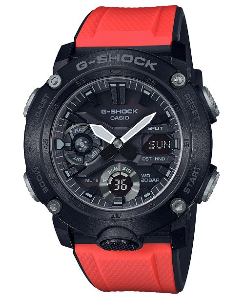 G-Shock Men's Analog-Digital Red Resin Strap Watch 48.7mm