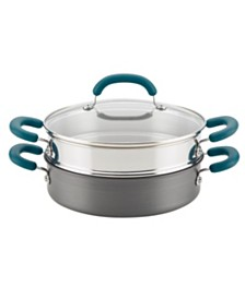 Rachael Ray Create Delicious Hard Anodized Aluminum Nonstick 3-Qt. Steam Set