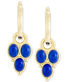 Lapis Lazuli Drop Earrings in 14k Gold Over Resin, Created for Macy's