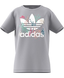 adidas Originals Big Girls Trefoil-Print Cotton T-Shirt