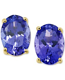 Tanzanite Oval Stud Earrings (1-1/3 ct. t.w.) in 14k Gold